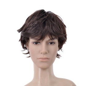 Flip Out Curl Up Short Mens Wigs