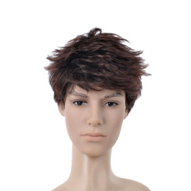 Dark Brown Flip Out Undetectable Mens Wigs