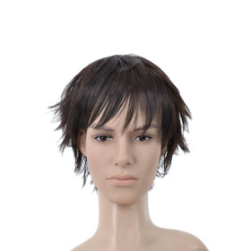 Black Straight Feather & Flirty Mens Wigs